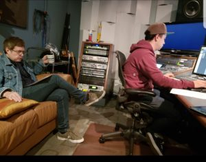 Quinton Flynn and Julian in Recording Studio