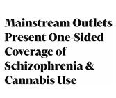 """Ganjapreneur Article """"Mainstream Outlets Present One-Sided Coverage of Schizophrenia & Cannabis Use"""""""